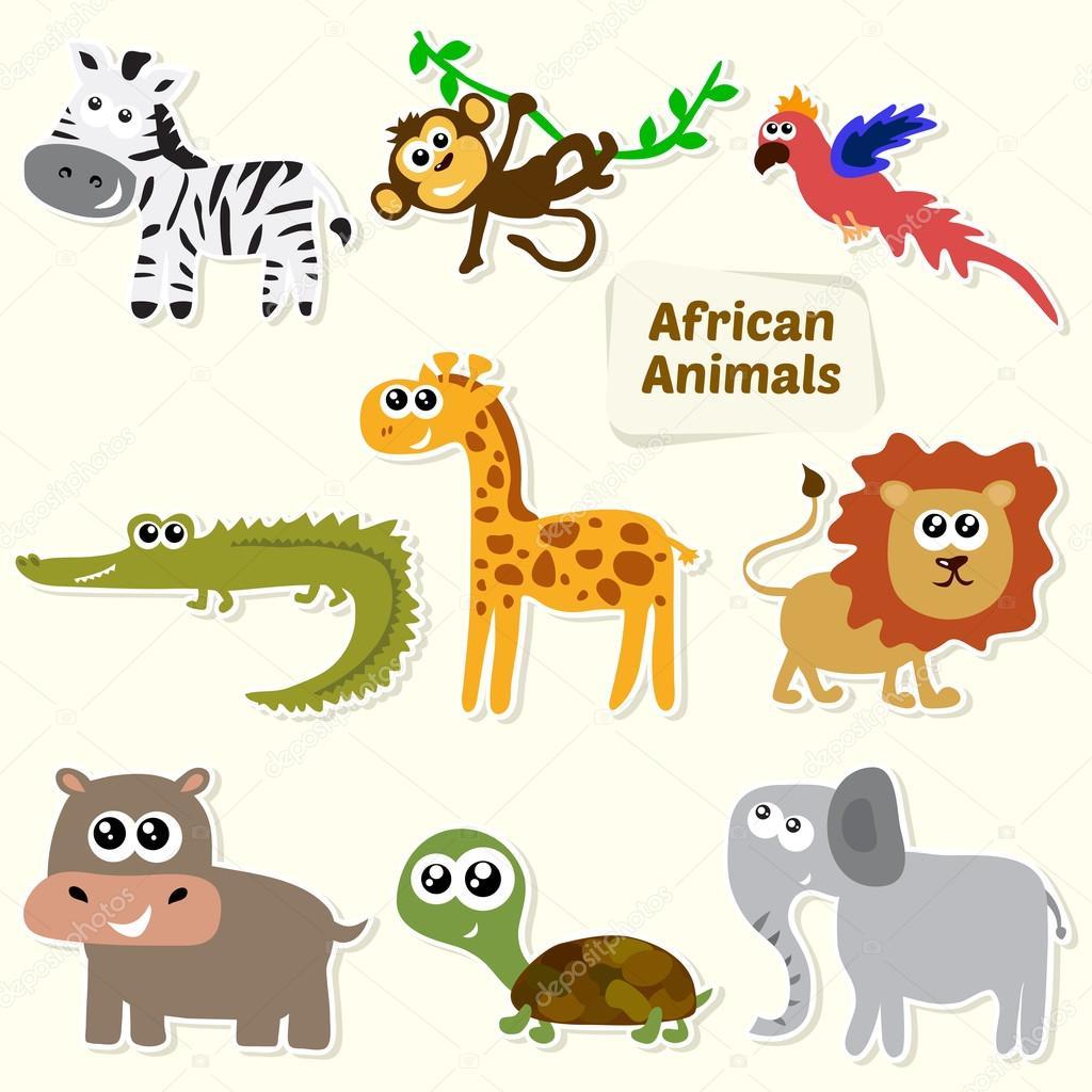 Ensemble D Animaux De La Jungle Animaux D Afrique Dessin Anime Mignon
