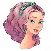 art beautiful hair style girl portrait