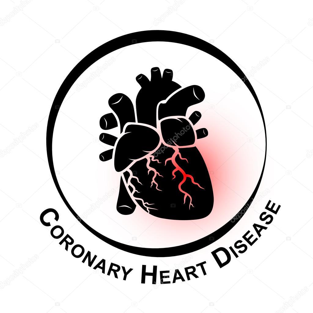 Symbol Der Koronaren Herzkrankheit Ischamische