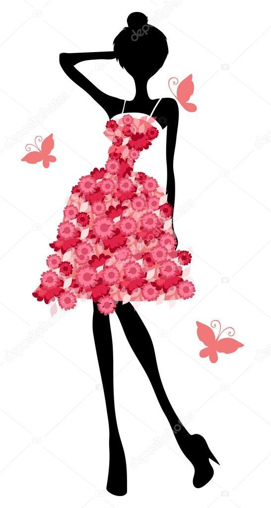 Girl In Beautiful Dress Stock Vector Scorpion333 75760185