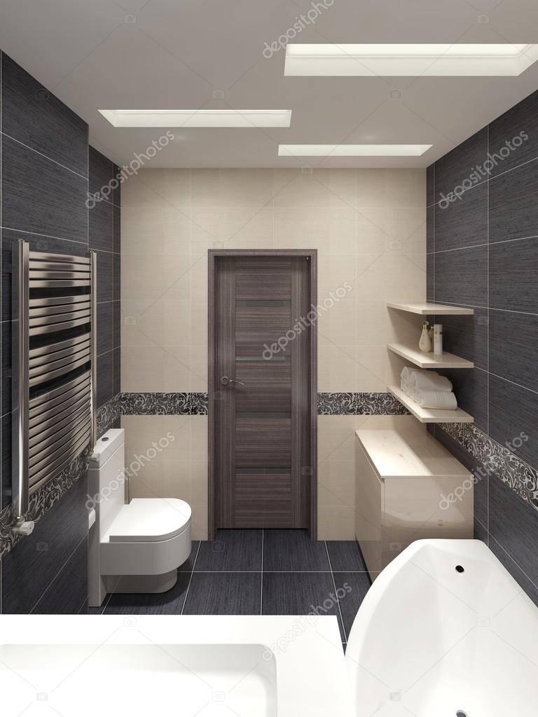 Bagno padronale in stile moderno  Foto Stock  kuprin33