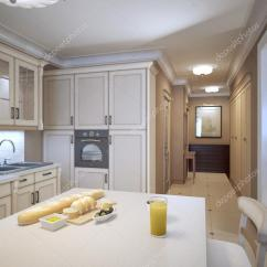 Kitchen Backslash Building Islands 白色的厨房装饰艺术风格 — 图库照片©kuprin33#83414956