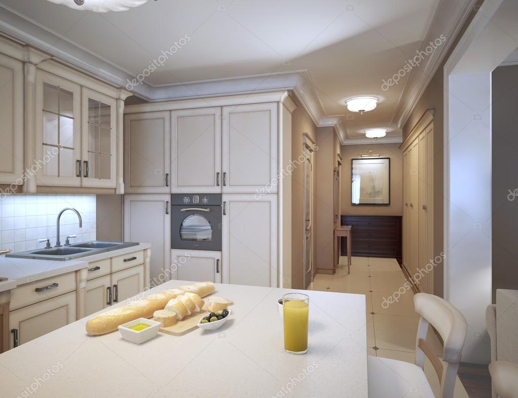 kitchen backsplashes keen shoes 白色的厨房装饰艺术风格 — 图库照片©kuprin33#83414956