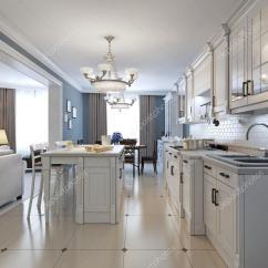 Kitchen Backsplash Design Clever Small 在地中海风格的厨房设计 图库照片 C Kuprin33 83414970 与不锈钢器具 白柜 白砖后挡板 玻璃厨房瓷砖后挡板 凹进面板机柜和花岗岩台面 3d 渲染 照片作者kuprin33