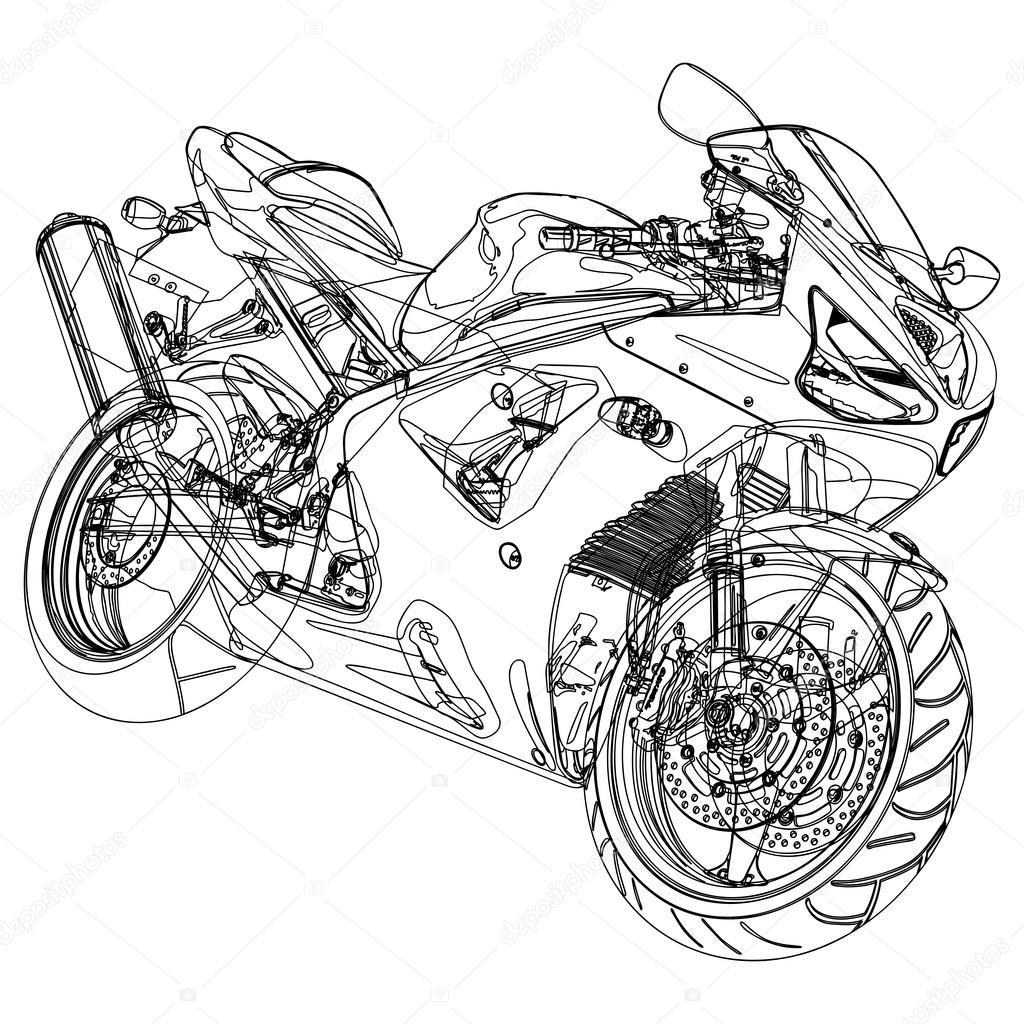 Motorcycle Sketch