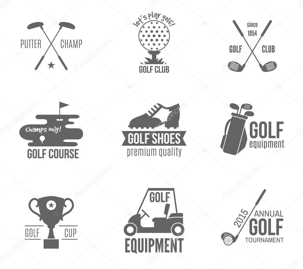 골프 라벨 세트 — 스톡 벡터 © macrovector #53998101