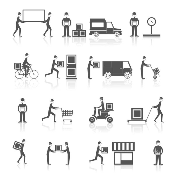 Warehouse Icons Black Stock Vector Macrovector 53850863