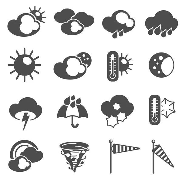Prévisions météo symboles ensemble d'icônes — Image