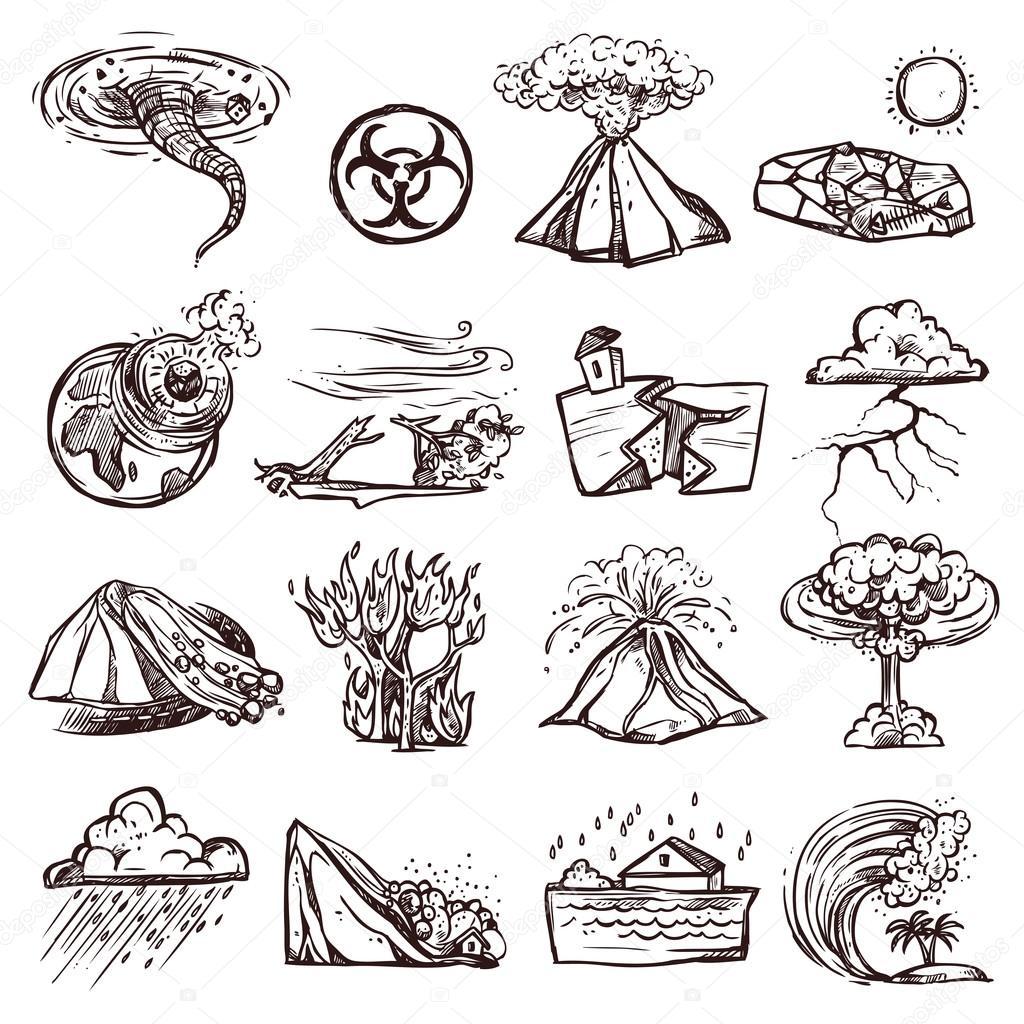 Natural Disasters Sketch
