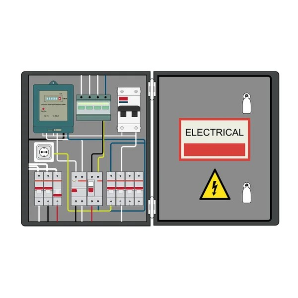 ᐈ electrical panel diagram stock images royalty free