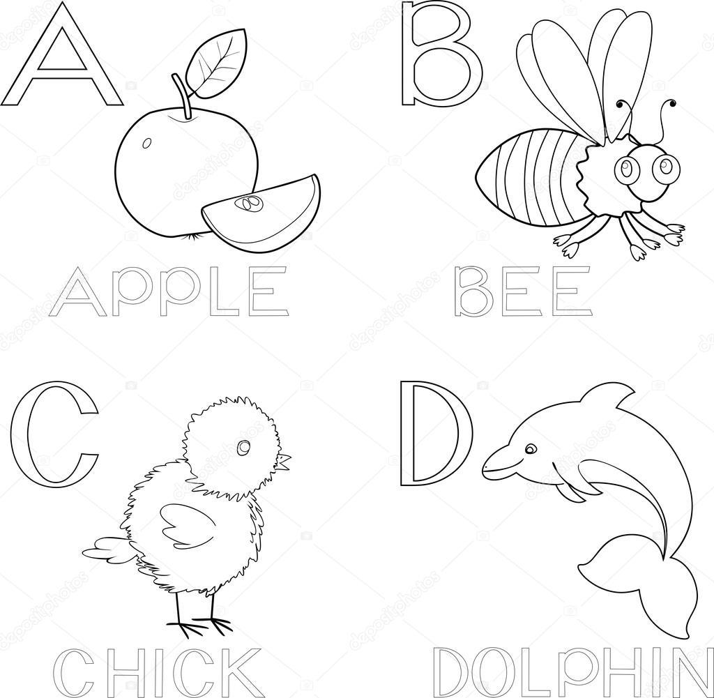 Coloring alphabet set — Stock Vector © mariaflaya #87449614