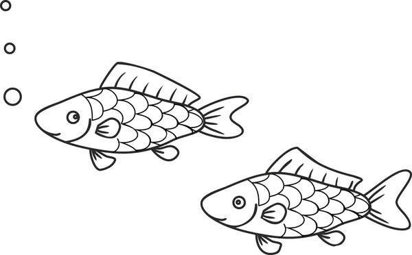 disegni da colorare pesci d'acqua dolce libro 1