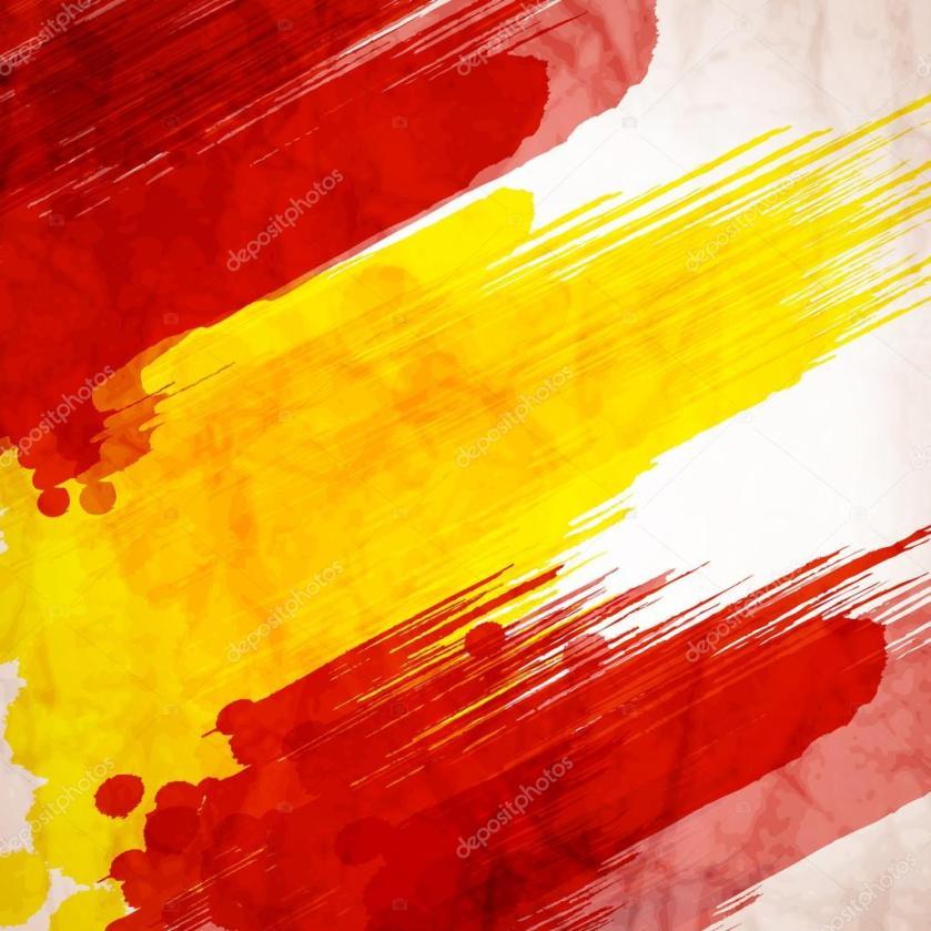 watercolor spain flag — stock vector © tatkuptsova #76277973