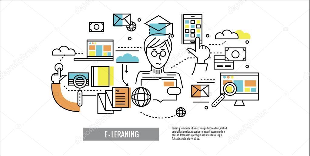 https depositphotos com 98504538 stock illustration online education e learning website html