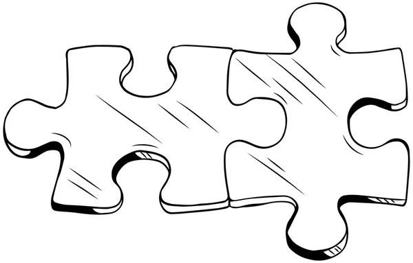 Two puzzle pieces — Stock Vector © businessdoodles #60499895