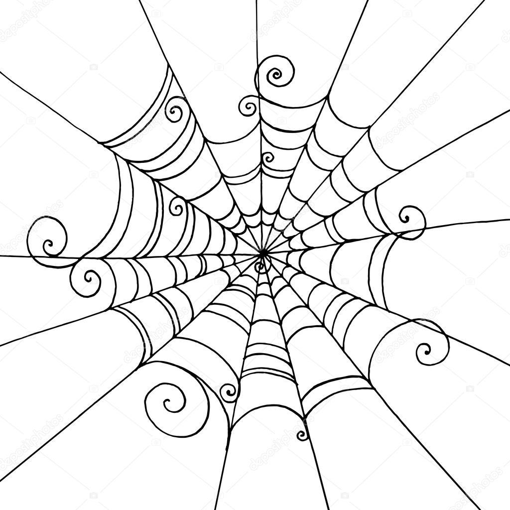 spider web vector pattern