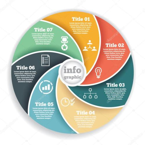 small resolution of business circle info graphic diagram presentation in steps ilustraci n de stock