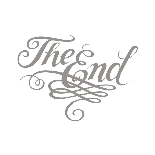 The end sign movie ending frame — Stock Vector