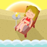 Tanning chair Stock Vectors, Royalty Free Tanning chair