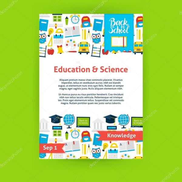 Education Science Poster Template Stock Vector Anna