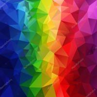 Vector polygonal background pattern - triangular design in ...