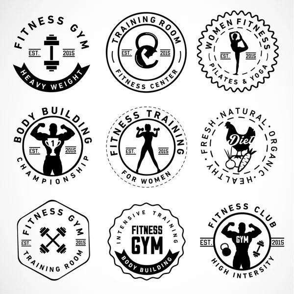 Vectores de stock de Bodybuilding, ilustraciones de