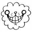 Smile of a cheshire cat for the tale Alice in Wonderland