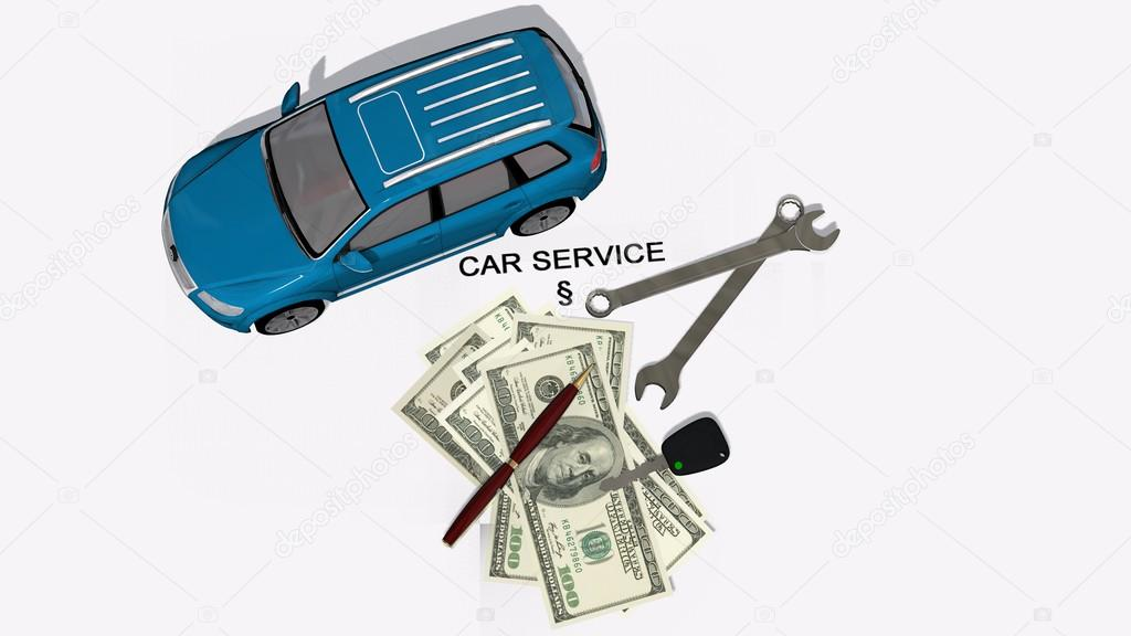 Car service contract — Stock Photo © Bestgreenscreen #70382879