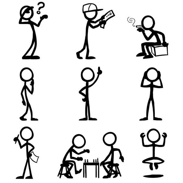 Stick figure Stock Vectors, Royalty Free Stick figure