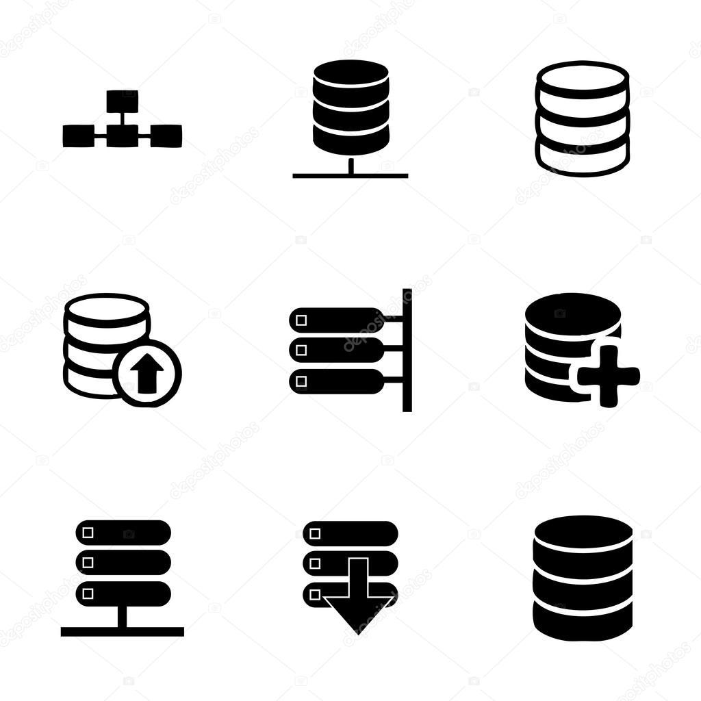 벡터 데이터베이스 아이콘 세트 — 스톡 벡터 © annexs #70703563