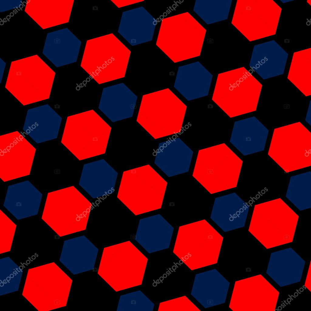 Ilustracin abstracta hexgono rojo azul Fondo macro
