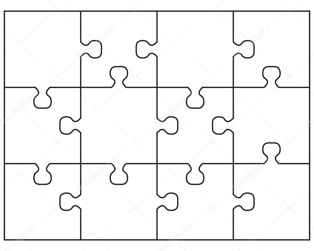 Wektor Bia Y Puzzle
