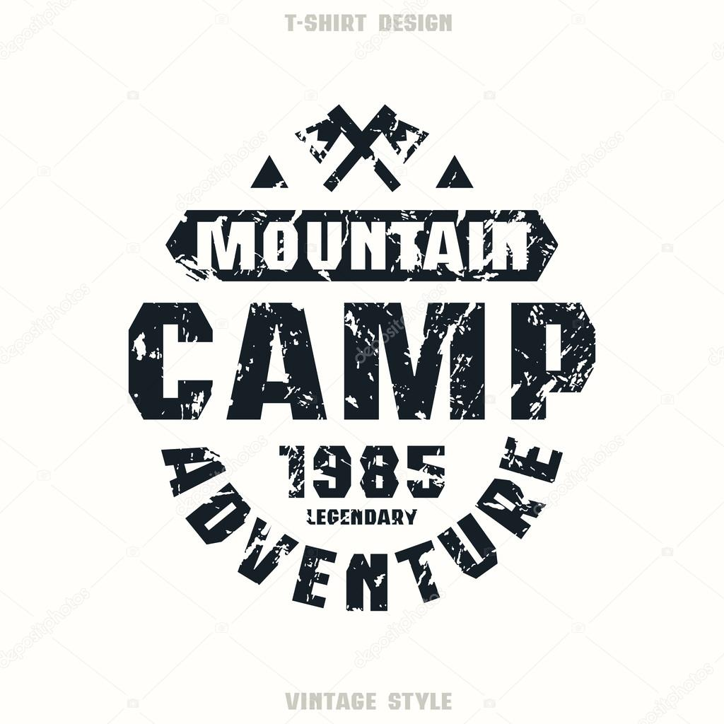 Camping Badge Graphic Design For T Shirt