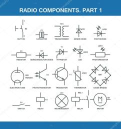 designation of components in the wiring diagram stock vector wiring diagram components [ 1024 x 1024 Pixel ]