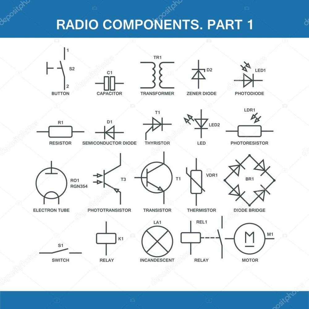 medium resolution of designation of components in the wiring diagram stock vector wiring diagram components