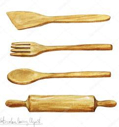 watercolor cooking clipart utensils stock photo [ 1024 x 1024 Pixel ]