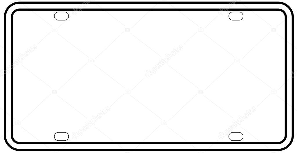 Blank License Plate Border — Stock Vector © BigAlBaloo