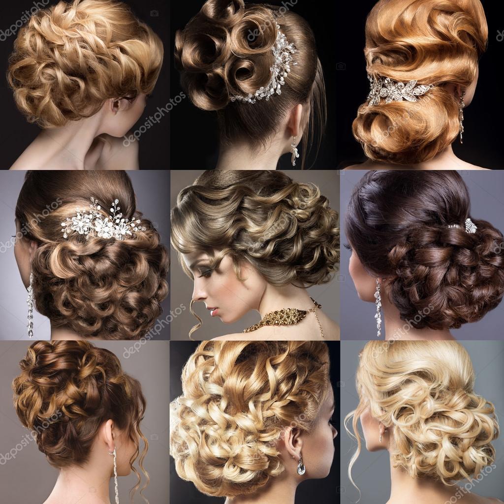 Der Hochzeit Frisuren Schöne Mädchen Schönheit Haar — Stockfoto