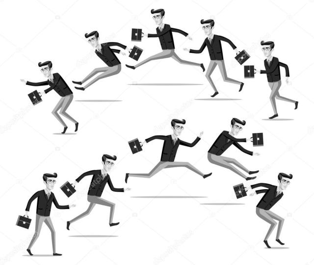 Breast The Current Own Way In Business Concept Flat Web Isometric Infographic Vector Red Businessman Walk Against Crowd Of Grey Usual Men