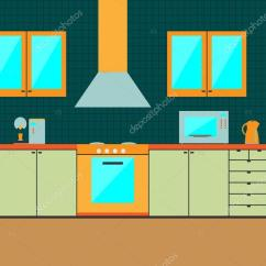 Kitchen Cabinet Parts How Much Does It Cost To Refinish Cabinets 室内平厨柜 配件 图库矢量图像 C Burntime555 61777807 Flat Interior Accessories Of Design Vector Illustration Eps10 矢量图片burntime555