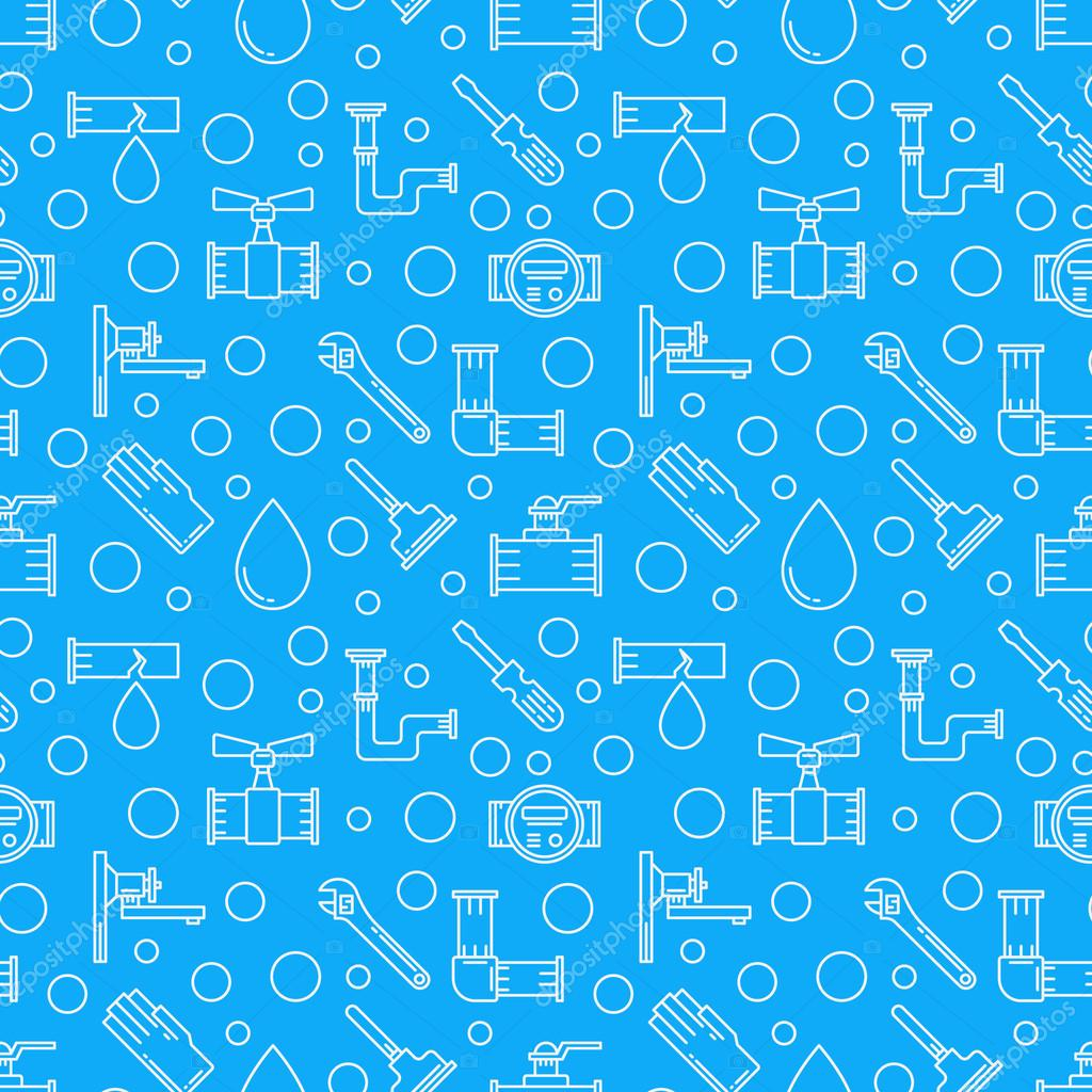 Blue Plumbing Services Background Stock Vector C Sn3g 100806116
