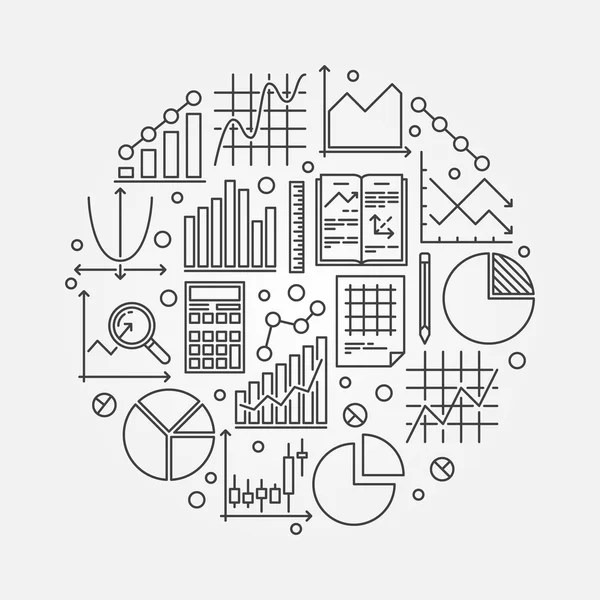 Mathematics round illustration — Stock Vector © sn3g
