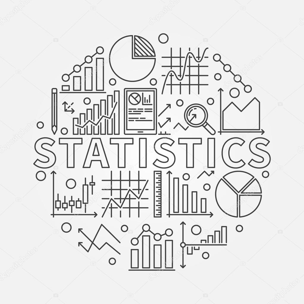 Statistics subject illustration — Stock Vector © sn3g