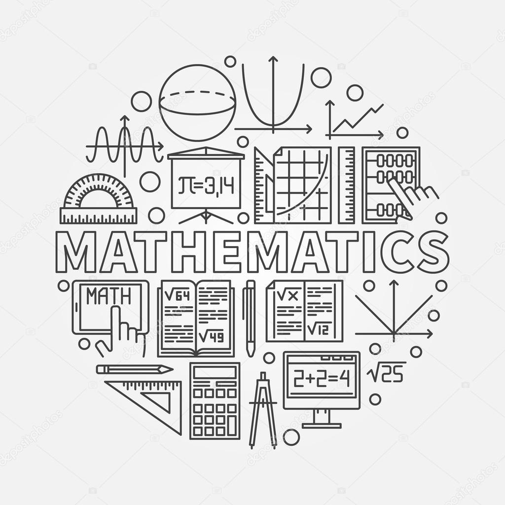 Mathematics Round Illustration