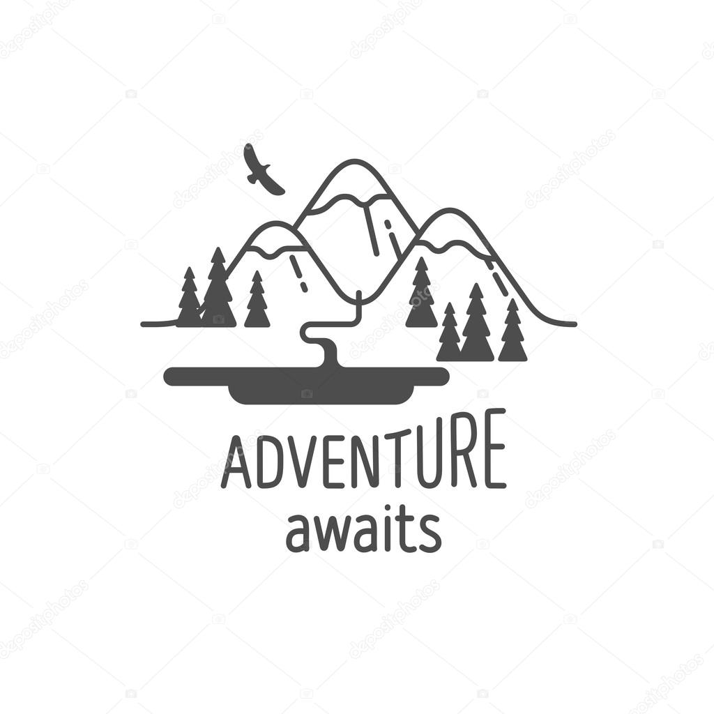 Adventure Awaits Element For Greeting Cards Posters And