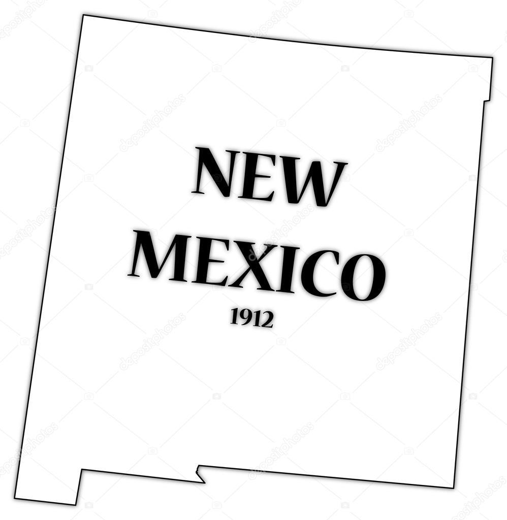 Új-Mexikó állam és dátum — Stock Vektor © Davidscar #57073745