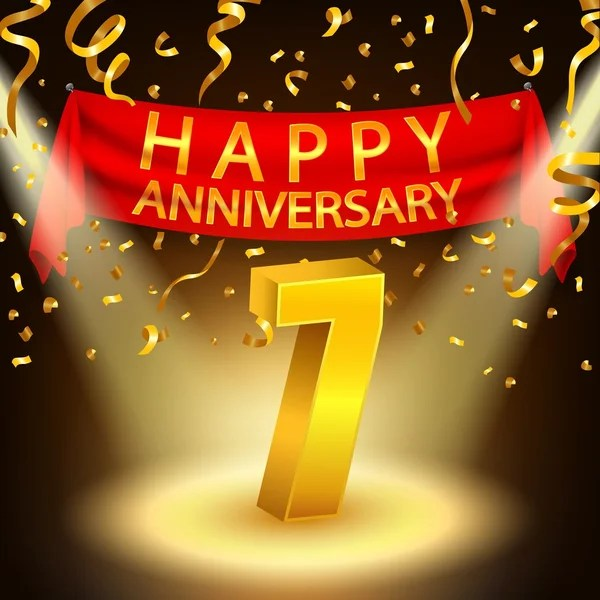 7th Anniversary Stock Vectors Royalty Free 7th