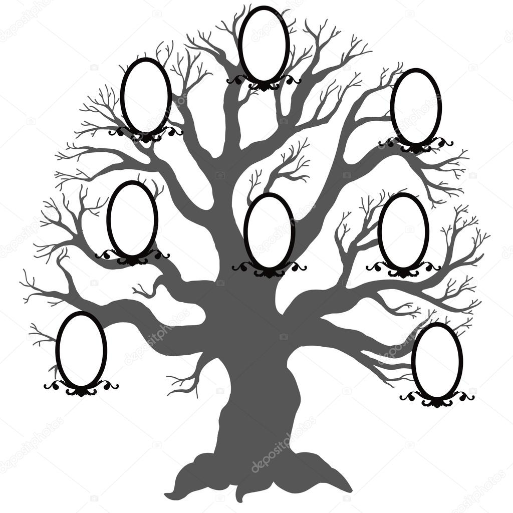 Rodinn Strom Vektorove Ilustrace