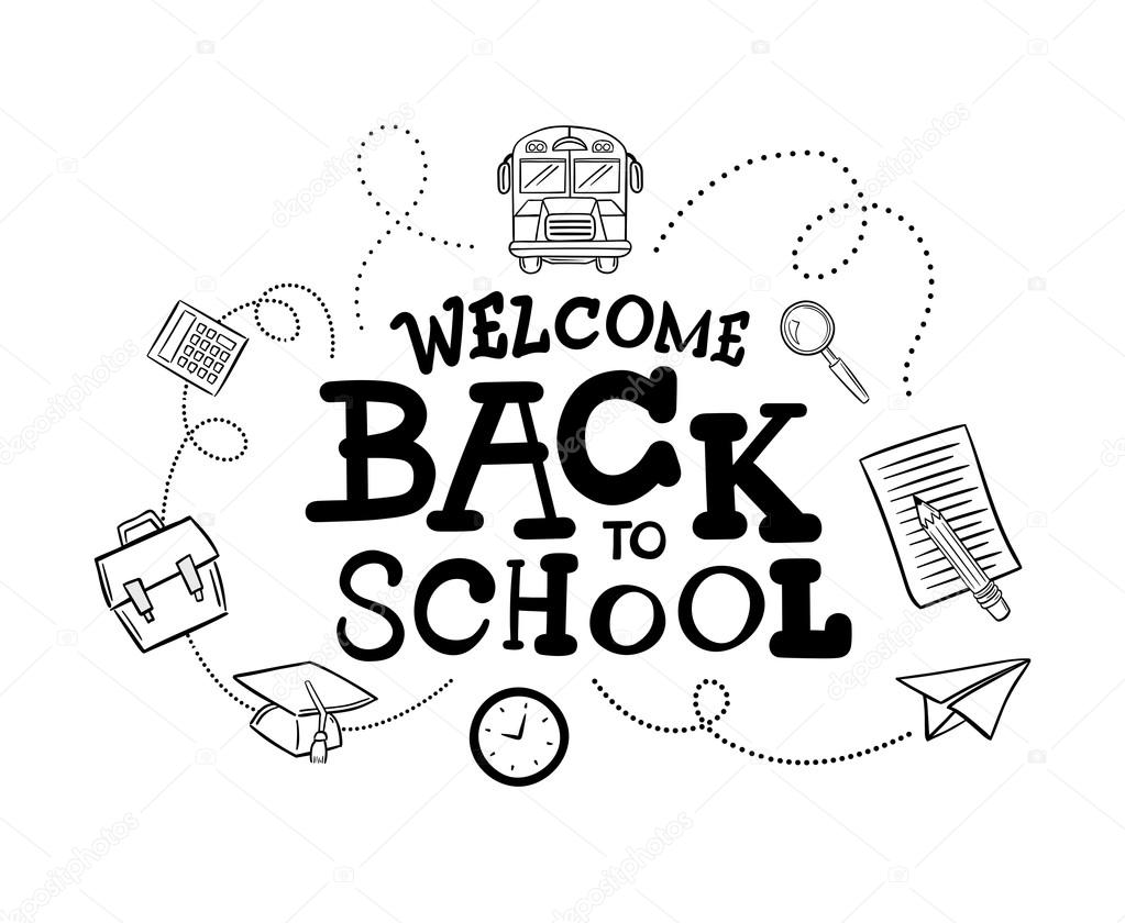 Welcome back to school message — Stock Vector