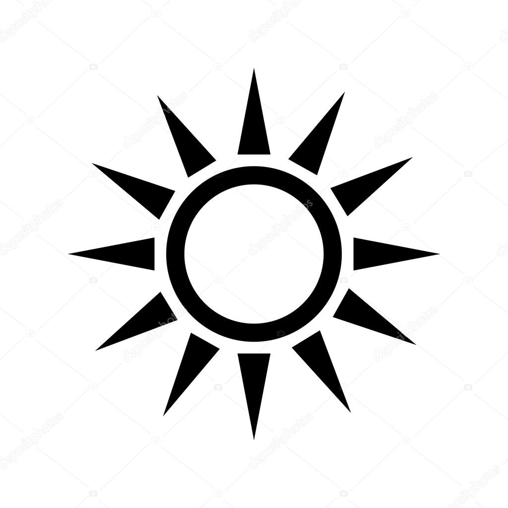 Sun Design Isolated Weather Icon Vector Graphic
